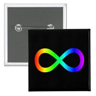 Rainbow Infinity Symbol 15 Cm Square Badge