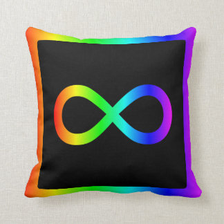 Rainbow Infinity Symbol Throw Pillow