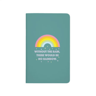 Rainbow Inspirational and Motivational Quote Journal