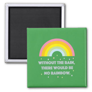 Rainbow Inspirational and Motivational Quote Magnet