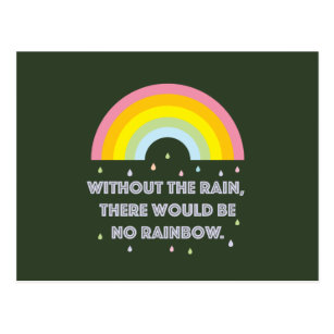 Rainbow Inspirational and Motivational Quote Postcard