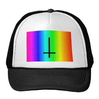 Rainbow inverted cross gear hats