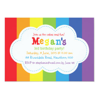 Rainbow Invitation / Rainbow Invite / Colorful