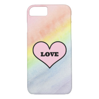 Rainbow iPhone 7 Case with Love