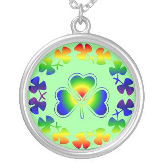 Rainbow Irish Shamrock Lucky Necklace