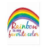 rainbow is my favourite colour postcards