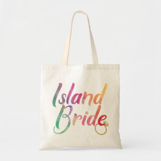 RAINBOW ISLAND BRIDE WITH GOLD RING TOTE BAG