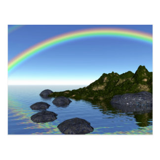 rainbow island postcard