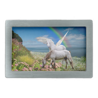 Rainbow Island Rectangular Belt Buckle