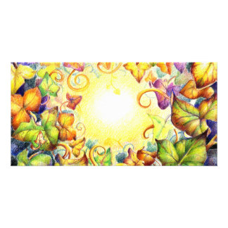 Rainbow Ivy Eye Photo Greeting Card