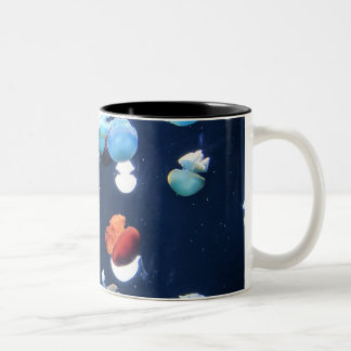 Rainbow Jelly Fish  Monogram Coffee Mug