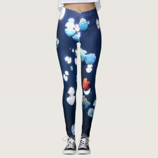 Rainbow Jelly Fish  Monogram Leggings