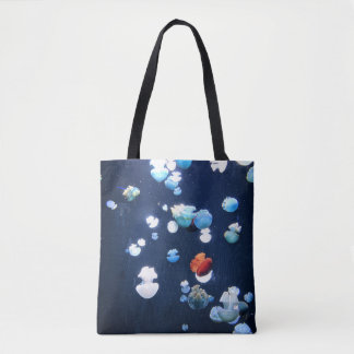 Rainbow Jelly Fish  Monogram Tote Bag