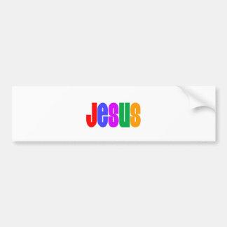 Rainbow Jesus Bumper Stickers