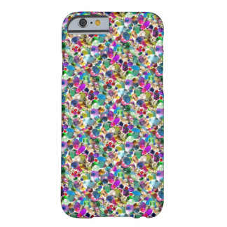 Rainbow Jewel Rhinestone Graphic Bling iPhone 6 ca Barely There iPhone 6 Case
