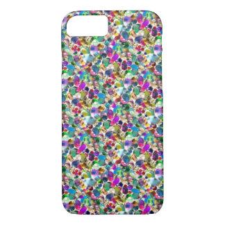 Rainbow Jewel Rhinestone Graphic Bling iPhone 7 ca iPhone 7 Case