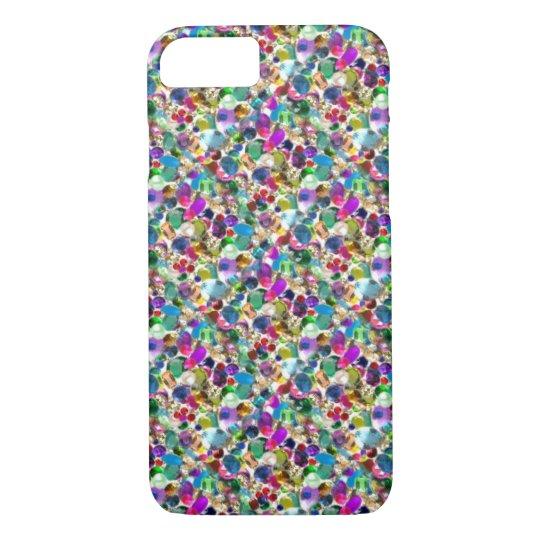 Rainbow Jewel Rhinestone Graphic Bling iPhone 7 ca
