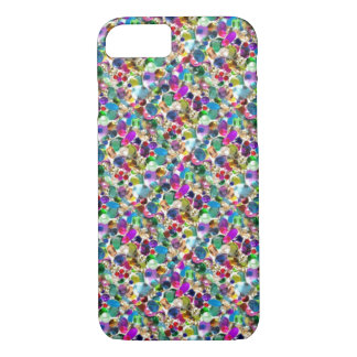 Rainbow Jewel Rhinestone Graphic Bling iPhone 7 ca iPhone 8/7 Case