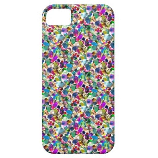 Rainbow Jewel Rhinestone Graphic Bling iPhone Case iPhone 5 Cover