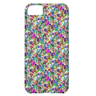 Rainbow Jewel Rhinestone Graphic Bling iPhone Case Case For iPhone 5C