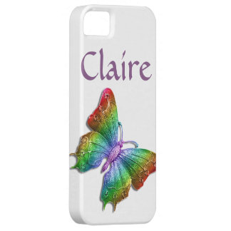 Rainbow Jeweled Butterfly 3D Personalized iPhone 5 Cases