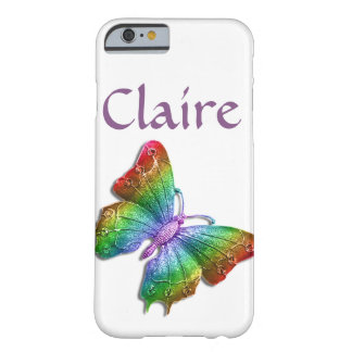 Rainbow Jewelled Butterfly 3D Personalised Barely There iPhone 6 Case