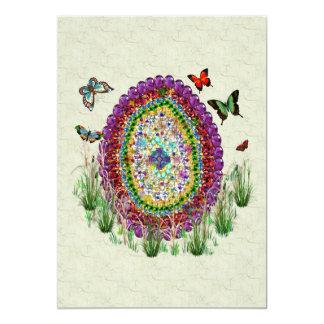 Rainbow Jewels Easter Egg 13 Cm X 18 Cm Invitation Card