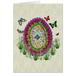 Rainbow Jewels Easter Egg Stationery Note Card