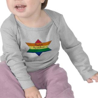 Rainbow Jewish Star T-shirt