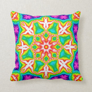 Rainbow Kaleidoscope Accent Pillow