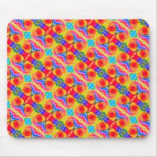 Rainbow Kaleidoscope Mouse Pad 2