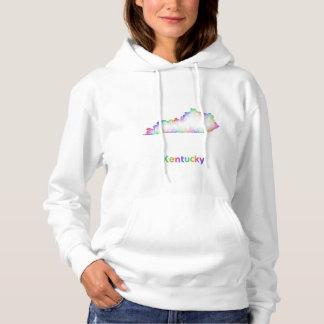 Rainbow Kentucky map Hoodie