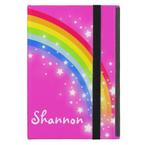 Rainbow kids girls name ipad mini Shannon case