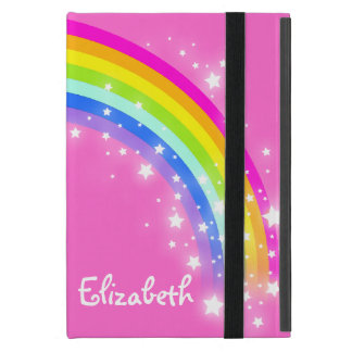 Rainbow kids girls name pink case covers for iPad mini