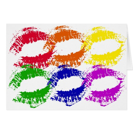 Rainbow Kisses Greeting Card