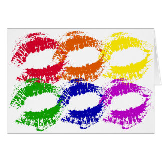 Rainbow Kisses Greeting Card