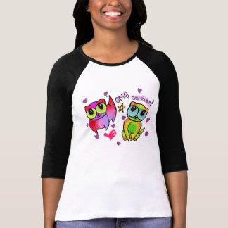 Rainbow kitties with eyes as big as picnic baskets tee shirt