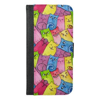 Rainbow Kitty (iPhone 6/6s Plus Wallet Case)
