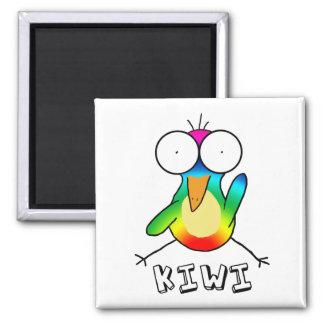 Rainbow Kiwi Magnet