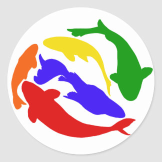 Rainbow Koi Stickers