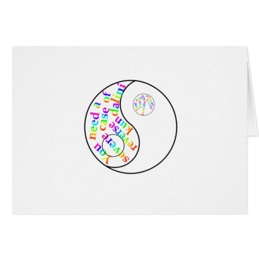 Rainbow Kundalini Yin Yang Greeting Cards