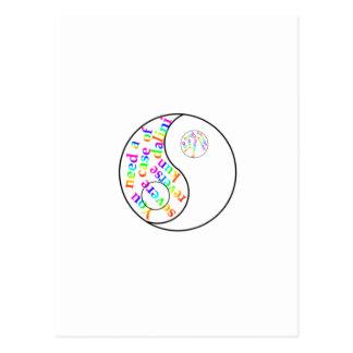 Rainbow Kundalini Yin Yang Post Card