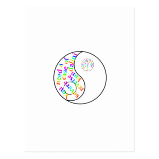 Rainbow Kundalini Yin Yang Postcard