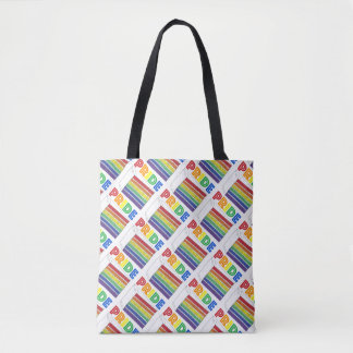 Rainbow Layer Cake Slice Lgbt Gay Pride Tote Tote Bag