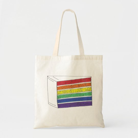 Rainbow Layer Cake Slice Pride Tote Bag