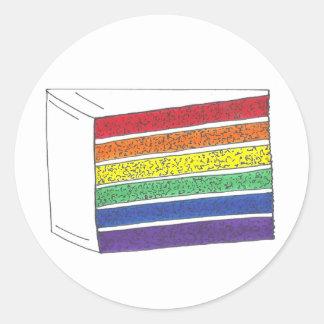 Rainbow Layer Cake Slice Stickers