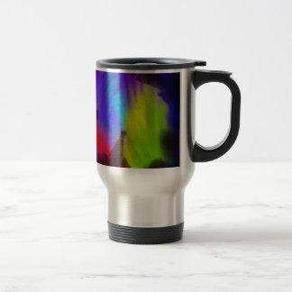 Rainbow leaf stainless steel travel mug