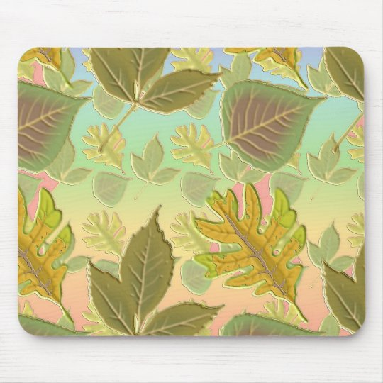Rainbow Leaves Mouse Pad