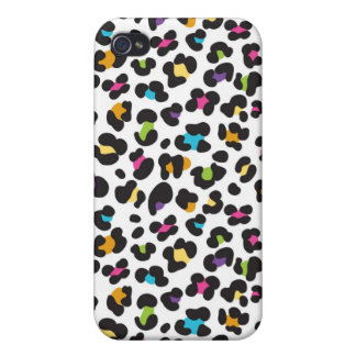 Rainbow Leopard Pattern Cover For iPhone 4