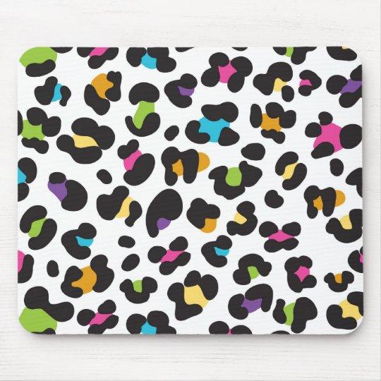 Rainbow Leopard Pattern Mouse Mat